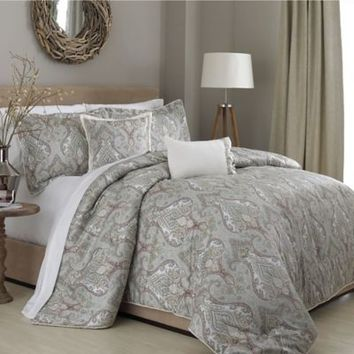 Raymond Waites Mantra Comforter Set in Green