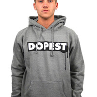 Drip Pullover Hoodie in Heather Grey