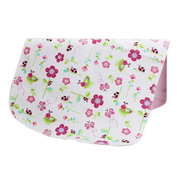 19*27 Inch Lovely Waterproof Breathable Baby Urine Pad-Flower and Butterfly