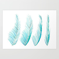 palm leaf Art Print by Color and Color