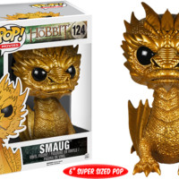 "The Hobbit Golden Smaug Metallic 6"" Pop Vinyl Figure"