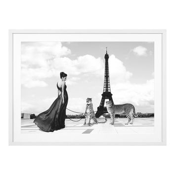Black & White Eiffel Tower Print | Eichholtz Trocadero View