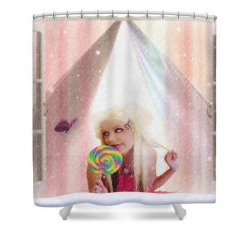 Candy Kisses Shower Curtain for Sale by Liane Wright