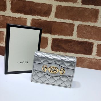 Gucci Laminated leather card case