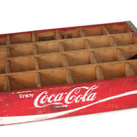 Vintage Coca Cola Crate Decor