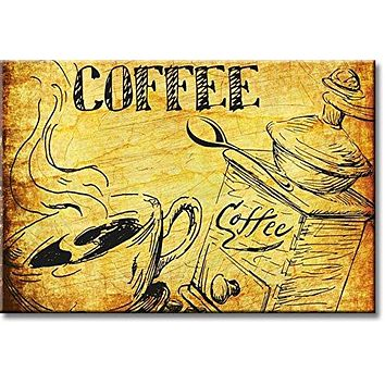 Coffee Sign Kitchen Picture on Stretched Canvas, Wall Art Décor, Ready to Hang