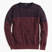 J.Crew Mens Textured Cotton Sweater In Variegated Stripe