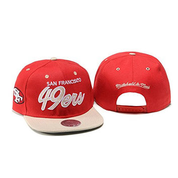 Tenbo-TY Unisex Adjustable Fashion Leisure Baseball Hat San Francisco 49ers Snapback Dual Colour Cap