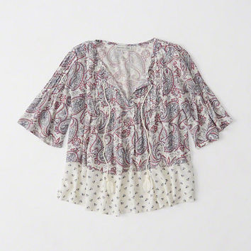 Womens Peasant Top | Womens Clearance | Abercrombie.com