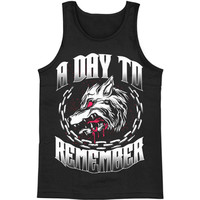A Day To Remember Men's  Big Wolf Mens Tank Black