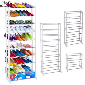 Portable Shoe Racks Folding Multilayer Non Woven Fabric Combination Dustproof Shoes Shelf Living Room&Bed Room Furniture