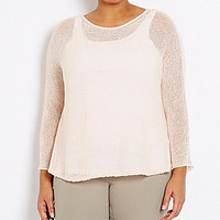 Eileen Fisher Plus Box Knit Top - Shell