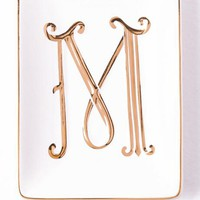 """""""M"""" Gold initial trinket tray"""
