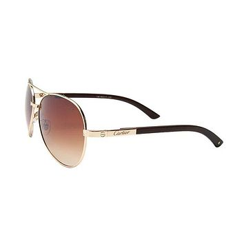 Unisex Pilot Cartier Sunglasses with Gift Box
