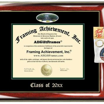 AllGiftFrames Custom Diploma Frame Embossed College Best University of La Verne Graduation Degree Frame Double ULV Campus Fisheye Picture Frame Cheap Graduate Gift