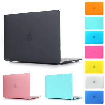 Xmas gift Matte Protector Case Air 11 13 Pro 13 Pro 15'' New Retina 12 13 15 for Macbook Cover Case For Mac book Laptop Shell