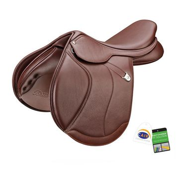 Bates (CAIR) Caprilli Close Contact Plus Saddle with Forward Flap and Luxe Leather