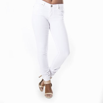 Classic Skinny Pants In White