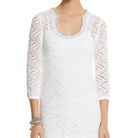 White House | Black Market Embellished Novelty Stretch Tunic