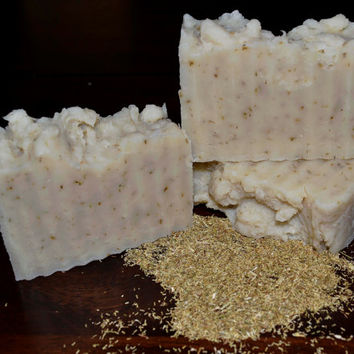 Handmade Soap Unscented, Chamomile and Honey Soap, Rustic Soap, Hot Process Soap, Natural Soap, Vegan Soap