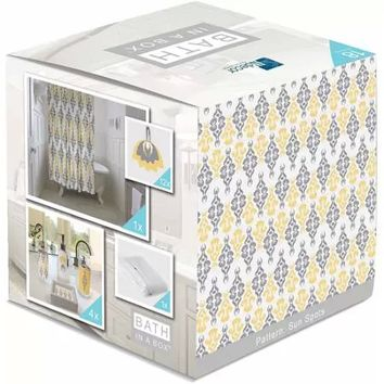 Indecor Home Bath in a Box 18-Piece Bathroom Set, Sun Tears - Walmart.com