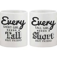 Short and Tall Best Friend BFF Coffee Mugs - 365 Printing Inc