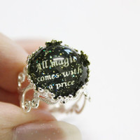 All magic comes with a price ring OUAT by CissyPixie on Etsy
