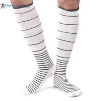 New Unisex Stress Relief Compression Socks reduce stress men's socks stockings help blood circulation striped sock