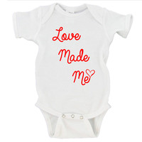 Love Made Me Gerber Onesuit ®