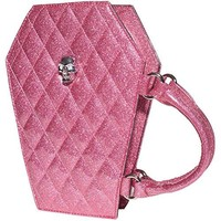 Lux De Ville Elvira Coffin Mini Tote Pink Bubbly Sparkle