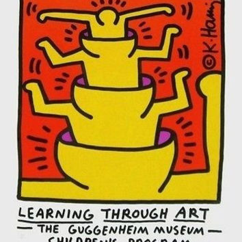 Learning Through Art, 1990 Ltd Ed Exhibition Poster, Keith Haring