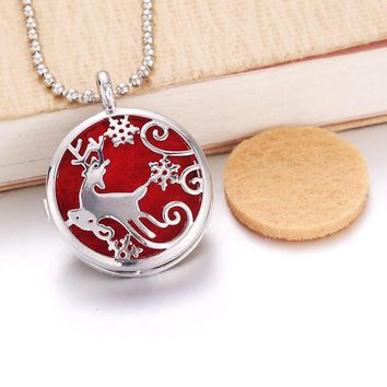 Christmas Reindeer Diffuser Necklace