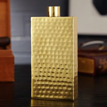 Kingston Hammered Gold Flask