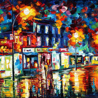 "Night Storm — PALETTE KNIFE Landscape Oil Painting On Canvas By Leonid Afremov - Size: 30"" x 24"" (75cm x 60cm) from afremov art"
