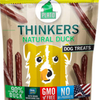 Plato Thinkers Natural Duck Smart Dog Treats 22oz