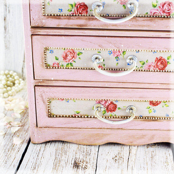 French Country Pink Shabby Chic Vintage From Alenahandmade On