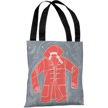 """Red Coat Island"" 18""x18"" Tote Bag by Michael Sanderson"