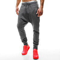 INCERUN 2017 New Men Plain Sweatpants Casual Joggers Sweats Pants Hip Hop Harem Trousers Loose Baggy Workout Pants Plus Size 2XL