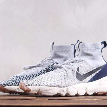 HCXX N256 Nike Air Footscape Magista Flyk Running Shoes Grey Blue