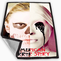 american horror story asylum tate langdon Design Blanket for Kids Blanket, Fleece Blanket Cute and Awesome Blanket for your bedding, Blanket fleece *
