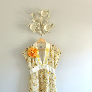 Floral Party dress, romantic shabby spring sundress, cottage chic, country chic women's clothing, true rebel clothing, large