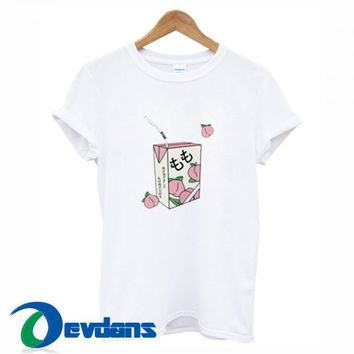 Peach Juice T Shirt For Women and Men Size S - 3XL