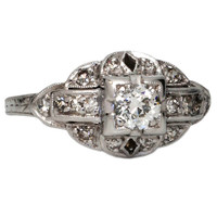 1930s Diamond Platinum Ring