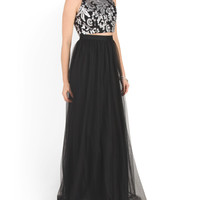 Made In Usa Prom Two Piece Gown With Sequin Top - Formal - T.J.Maxx