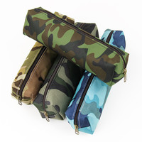 1 Pcs Camouflage Pencil Case School Supplies Colorful Zipper Pouch Office Supplies Pencil Bag