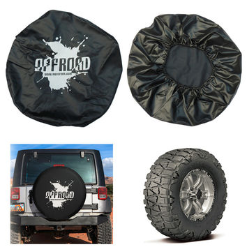 2017 Waterproof Dustproof Adjustable Auto Cars Spare Tire Cover Suitable For Jeep For Wrangler Protecting Wheel Accessories Hot