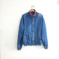 Vintage denim POLO Jean Jacket / slouchy and worn in