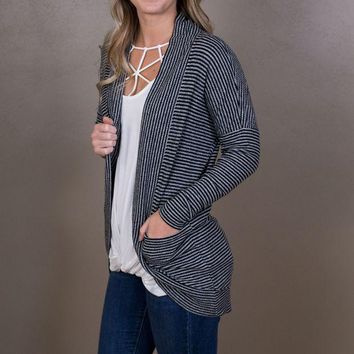 PEAPVA6 Striped Brushed Ribbed Cardigan - Z Supply