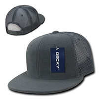 Ponce New Decky 6 Panel Flat Bill Terry Trucker Hat Caps High Crown Snapback