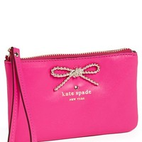 kate spade new york 'fair maiden - bee' leather wristlet | Nordstrom